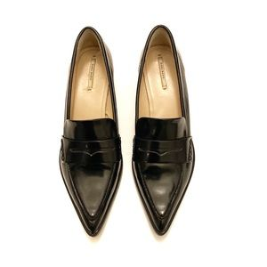Zara Vegan Leather Pointed Toe Loafer Size 39/8